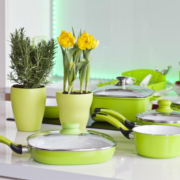 10 pomysłów na zieleń w kuchni