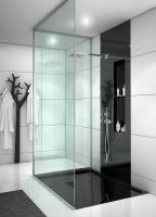 Łazienka czarno-biała w stylu nowoczesnym