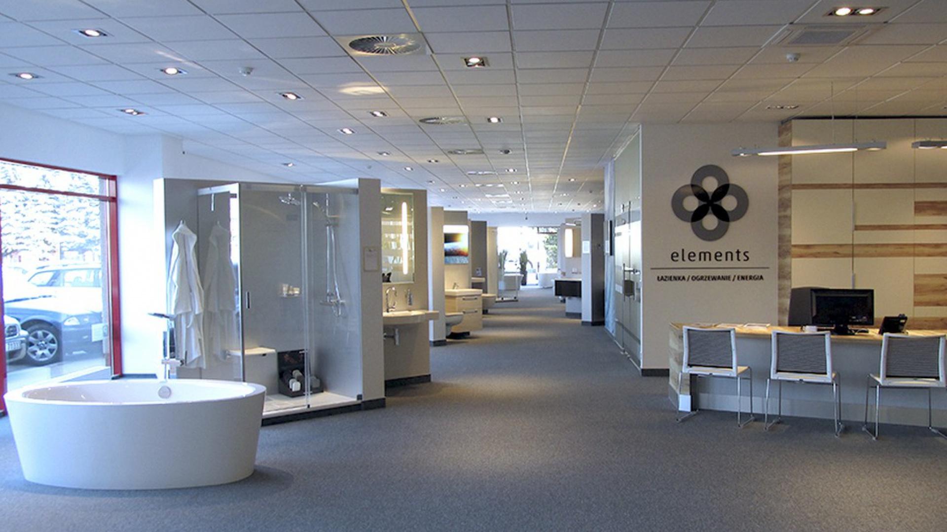 Nowoczesne wnętrze salonu Elements. Fot. Elements