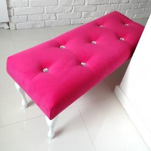 Ławka pikowana w stylu glamour.  Fot. HouseBerry.pl