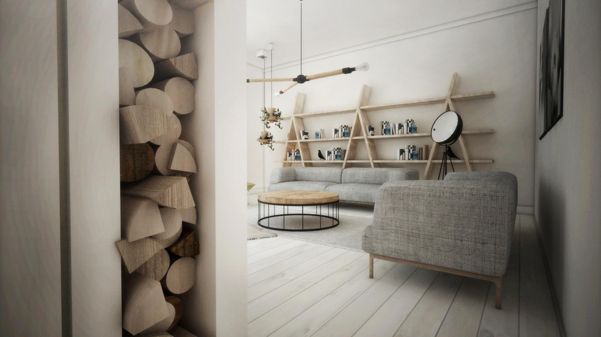 Przez wnętrze, właściciele chcieli podkreślić swoje fascynacje i szacunek do natury. Projekt Home And Wood