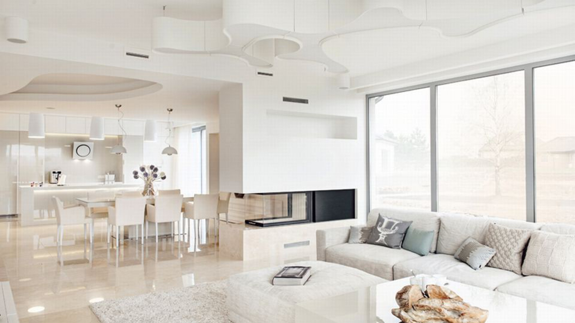 Właścicielem wnętrza jest gdyński biznesmen, dla którego dom miał być ostoją spokoju, odizolowania i relaksu. Projekt Formativ. Fot. Archiconnect.pl