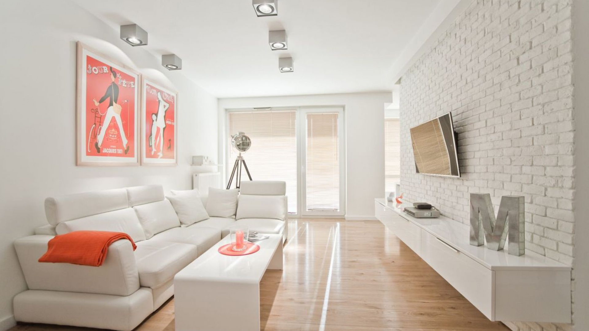 Salon w mieszkaniu 54 m². Projekt Boho Studio. Fot. Archiconnect.pl