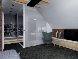 Sypialnia w domu w Rusi