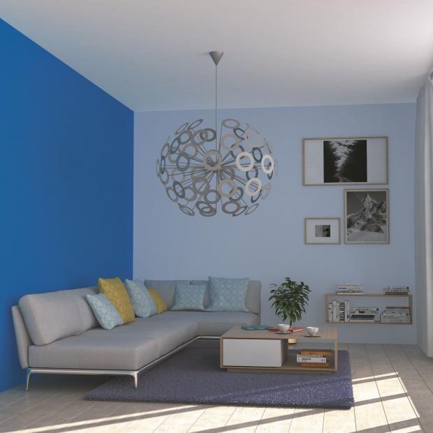 Barwy we wnętrzach: wybierz relaksujący niebieski