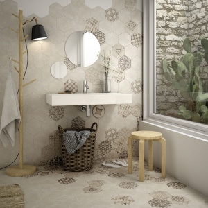 Płytki z kolekcji Hexatile Cement. Fot. Equipe Ceramicas