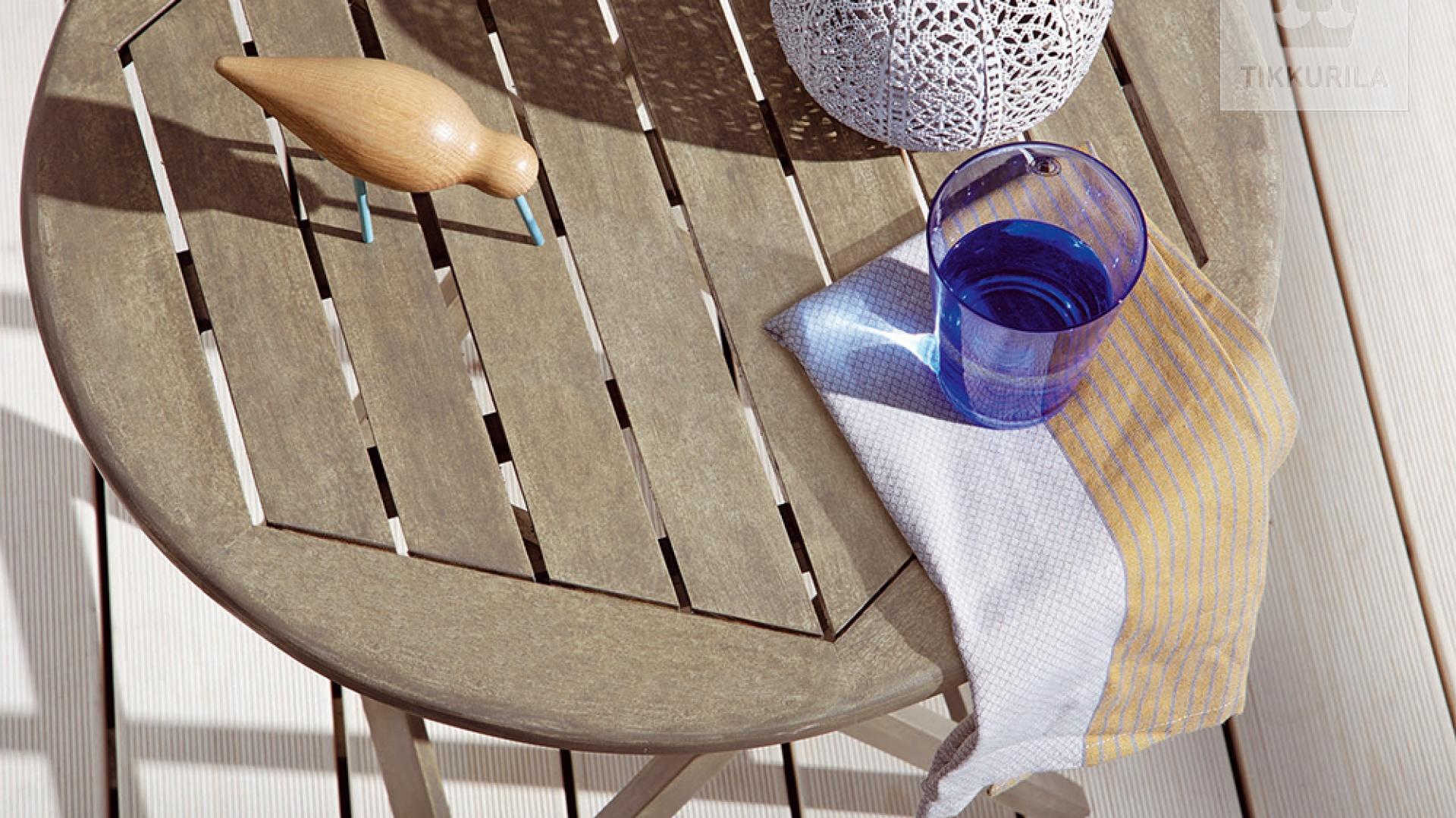 Tikkurila Valtti Wood Oil Akva to olej służący do dekorowania i skutecznego zabezpieczania powierzchni drewnianych narażonych na działanie czynników atmosferycznych. Fot. Tikkurila
