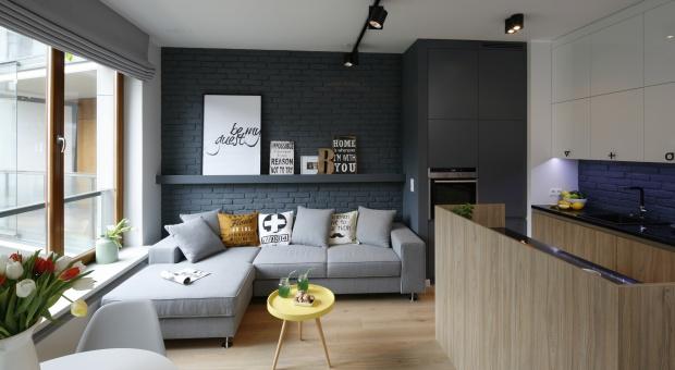 50-metrowa kawalerka w stylistyce loft