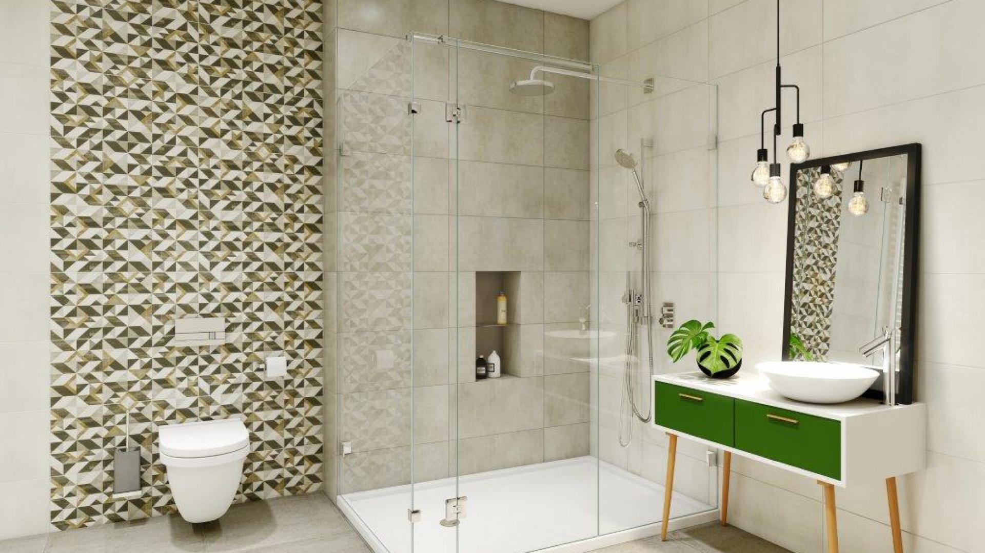 Nowości Do łazienki Płytki Z Geometrycznym Motywem