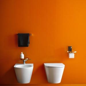 Miska w.c. Kartell by Laufen przekonuje nie tylko designem; wyposażona jest w innowacyjną technologię, która dzięki zredukowaniu wewnętrznego kołnierza ułatwia utrzymanie w czystości i pozwala zmniejszyć zużycie wody. 1.900 zł. Fot. Laufen