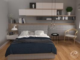 Koncepcję zaaaranżowanej przez Progetti Architektura wysmakowanej sypialni można zawrzeć w haśle: prostota i funkcjonalizm.