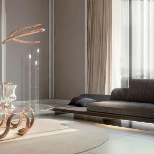 Sofa, stół oraz lampa z najnowszej kolekcji Pininfarina Segno marki Reflex. Fot. Galeria Heban