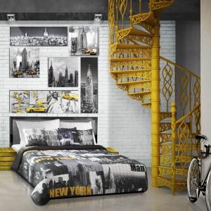 W stylu miejskim prym wiodą żółte dodatki wyeksponowane na czarno-białym tle. Fot. Eurofirany