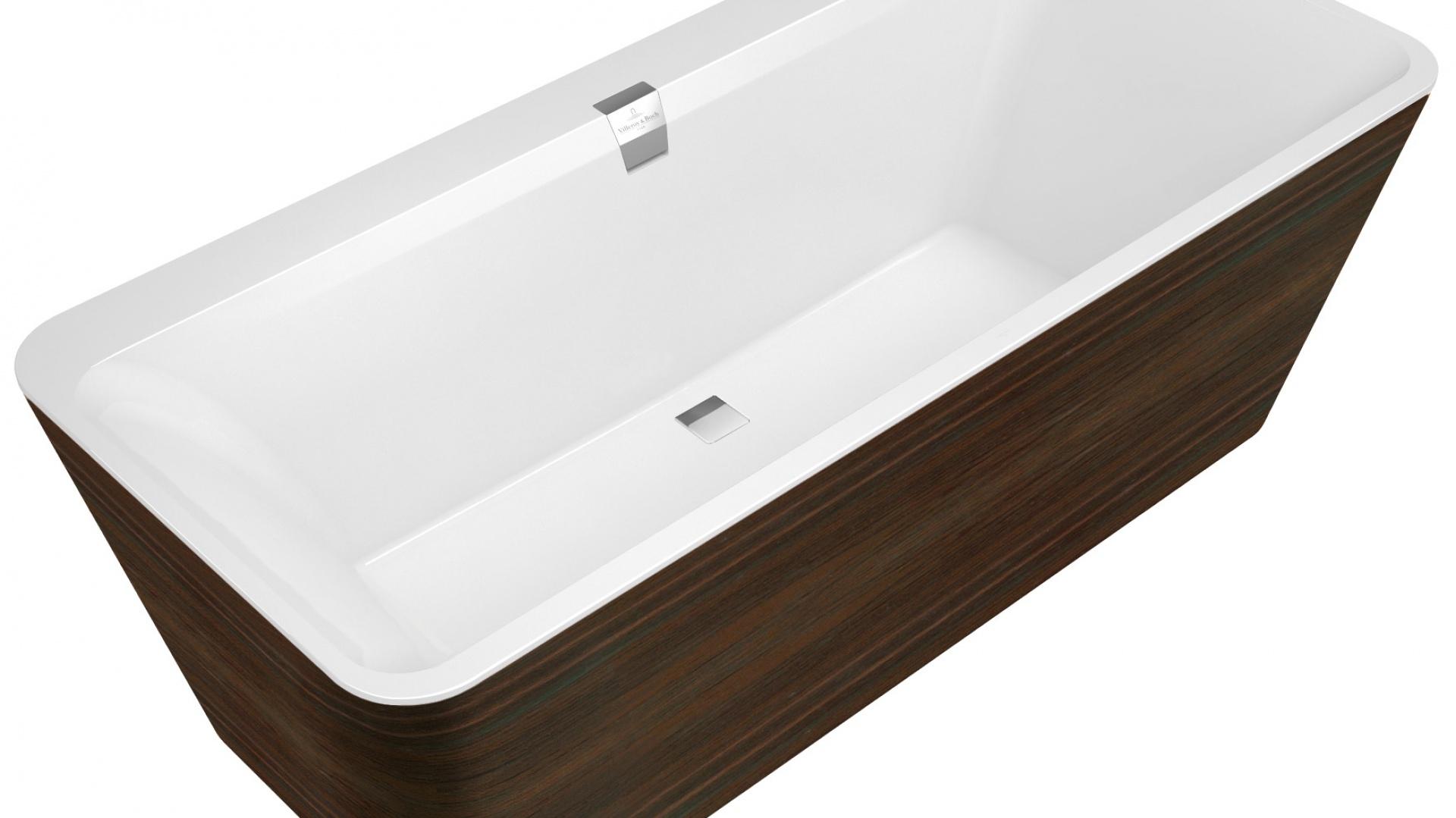 W wannie Squaro Prestige do długich kąpieli zachęca jej wnętrze wykonane z Quarylu®, który utrzymuje ciepło wody i jest odporny na zarysowania. Fot. Villeroy & Boch