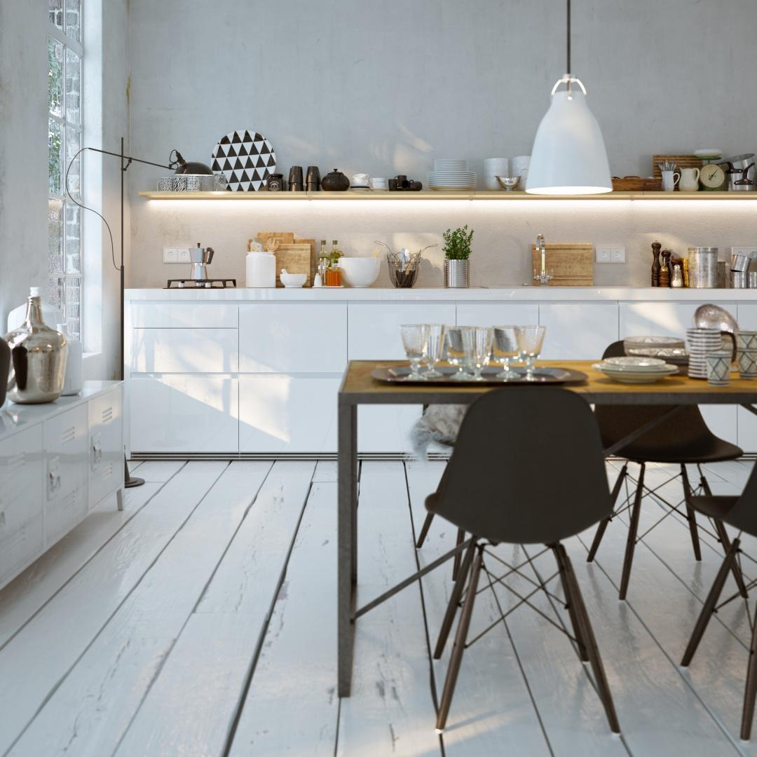 Przykład oświetlenia stołu oraz strefy roboczej. Fot. Candellux Lighting