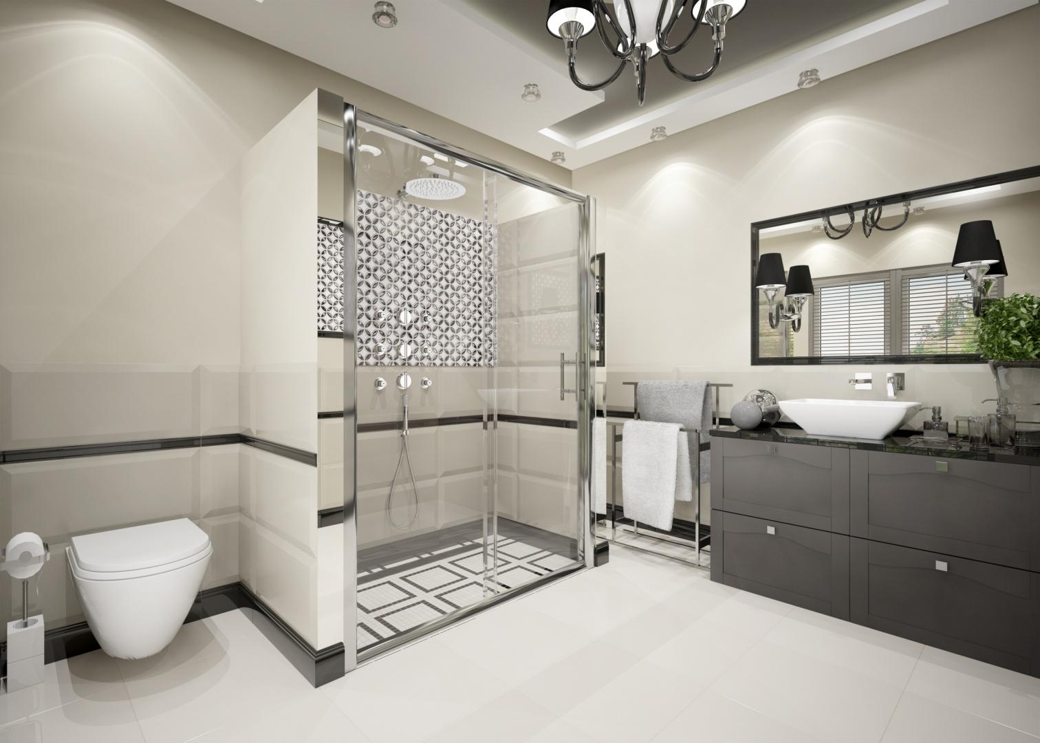 Deante łazienka glamour proj. Anna Winecka.