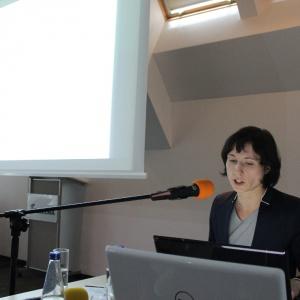 Anna Spalony z CAD Projekt pokazuje możliwości oprogramowania swojej firmy.