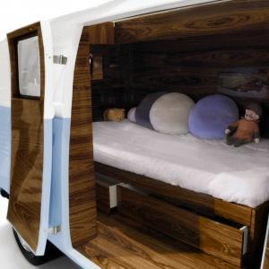 Łóżko Bun Van w środku. Fot. Circu
