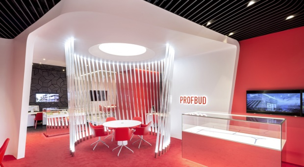 Designerski salon sprzedaży firmy Profbud