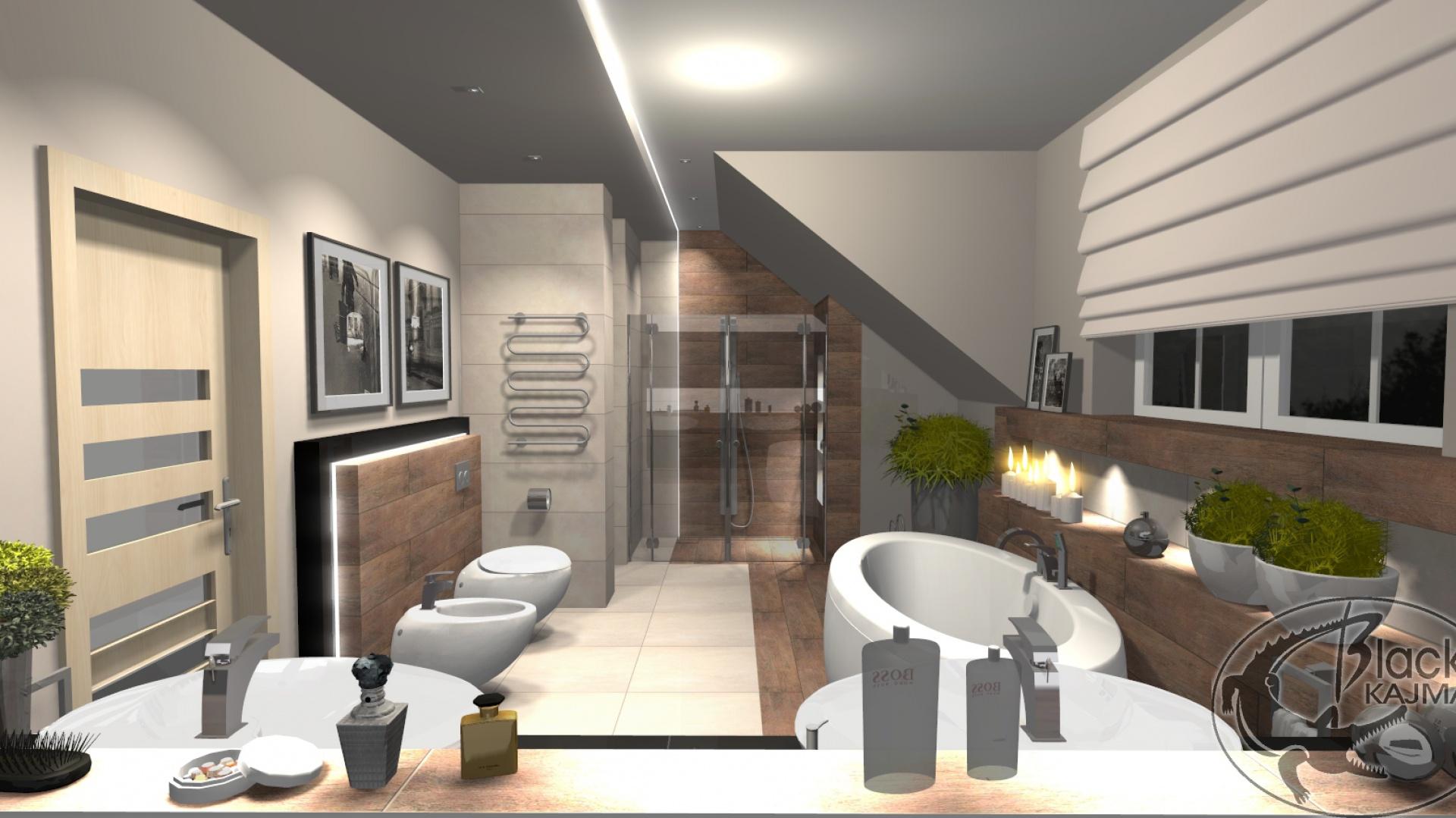 Duża łazienka Z Wanną Zobacz Gotowy Projekt