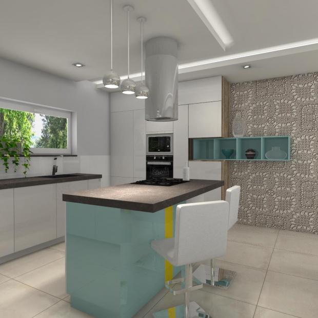 Kuchnia w bieli i koronkach. Zobacz gotowy projekt