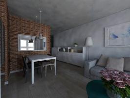 Przytulne mieszkanie w nowoczesnym stylu. Projekt i wizualizacje: Premiere Design
