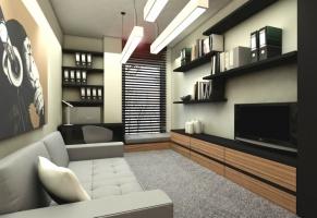 Projekt mieszkania w industrialnym stylu. Wizualizacje: Premiere Design.