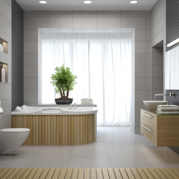 Wodospad w łazience – panel prysznicowy z hydromasażem i kaskadą