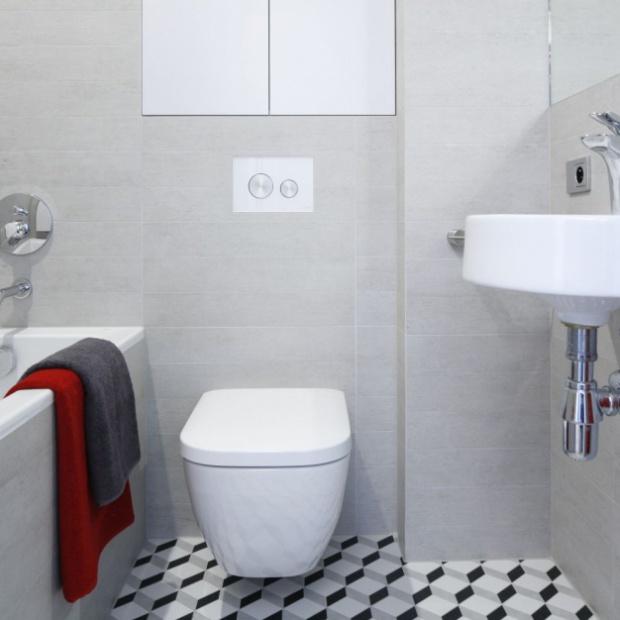 14 zdjęć z polskich domów z szarę łazienką
