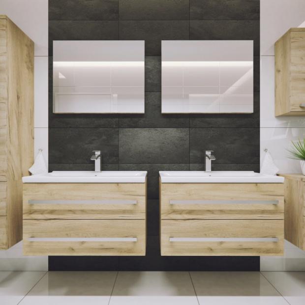 Meble z rysunkiem drewna do łazienki