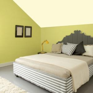 Sypialnia w kolorach kwiat lipy oraz  pachnąca konwalia.  Fot. Jedynka