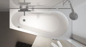 Wanny asymetryczne to sposób na wygodną kąpiel nawet bardzo małej łazience, gdzie nie ma możliwości zamontowania wanny prostokątnej czy owalnej.
