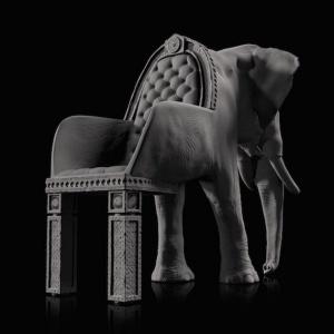 Elefante to kolejny pomysł nietuzinkowego projektanta Maxiomo Riera na mebel do siedzenia. Fot. Maximo Riera.