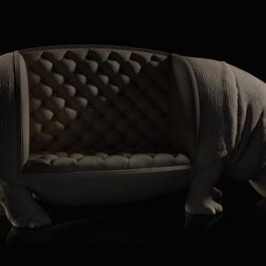 Sofa Hippo. Projekt i zdjęcia: Maximo Riera.