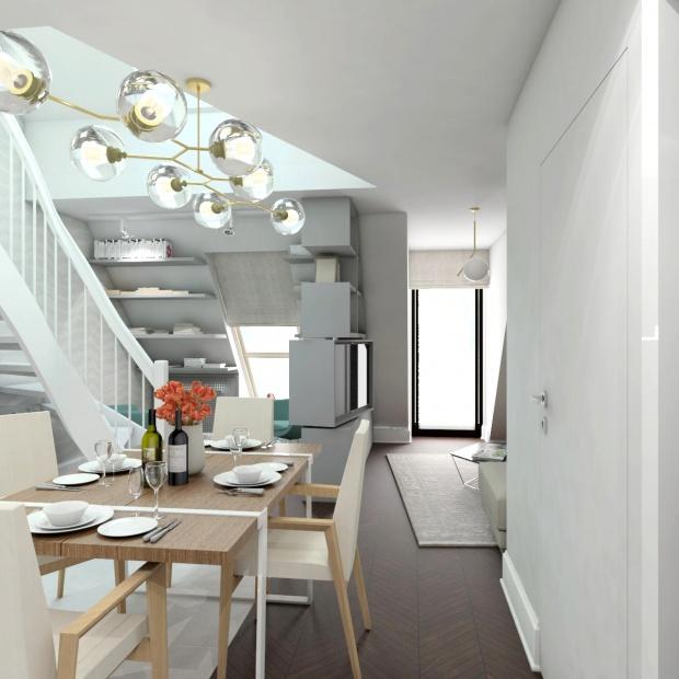 Zobacz projekt dwupoziomowego mieszkania