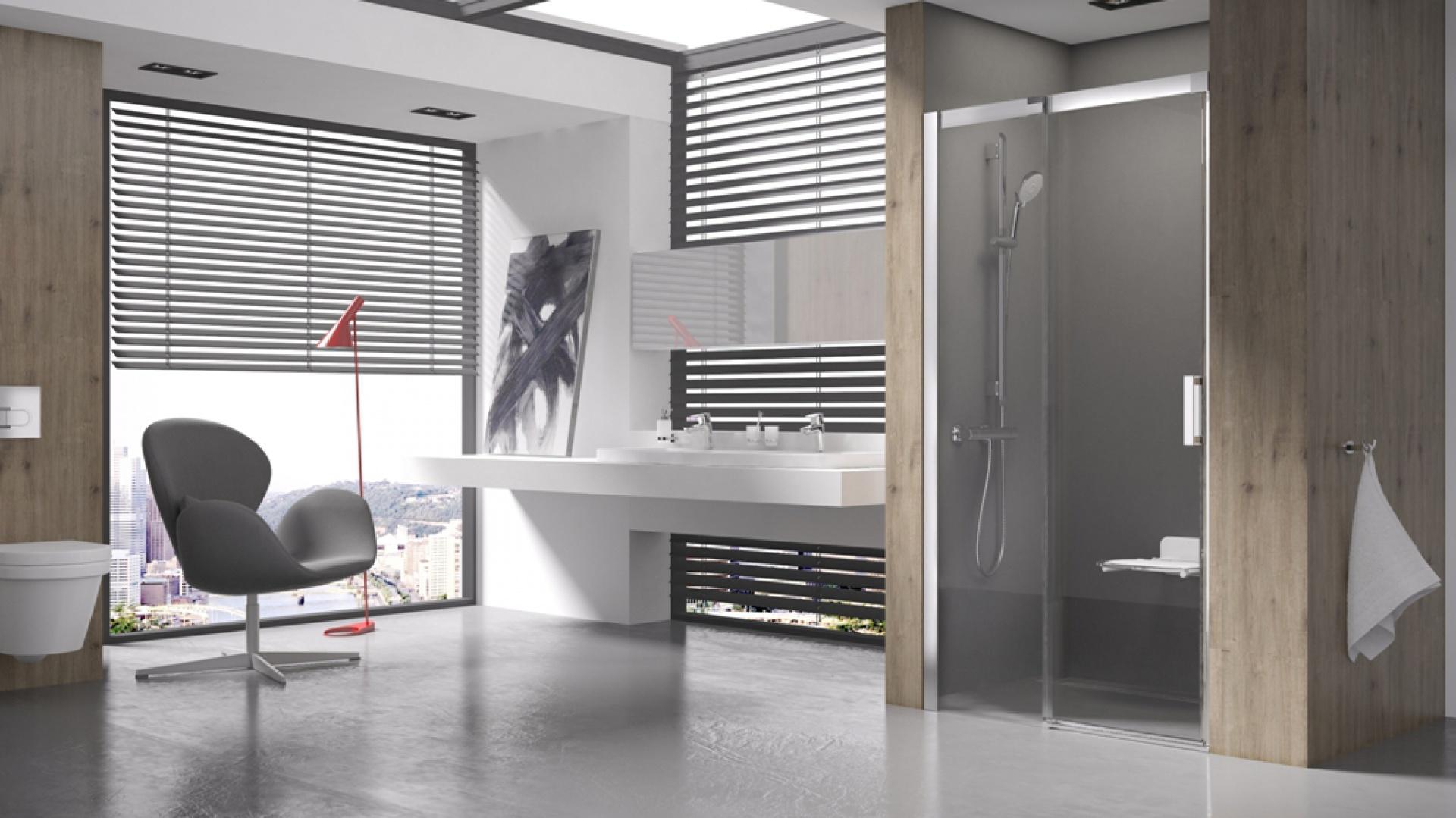 Drzwi prysznicowe Matrix MSD2 – rozmiar od 100 do 120 cm, L/R cena od 2.399 zł. Fot. raval