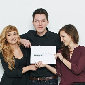Józek Madej, Weronika Kiersztejn i Katarzyna Sąsiadek tworzą kolektyw Musk. Fot. Kolektyw Musk.