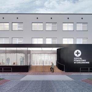 Kompleksowy projekt dla Szpitala Powiatowego w Chrzanowie: strefa wejściowa (architektura), informacja wizualna wewnątrz (grafika) oraz projekt wnętrz szpitala. Fot. Kolektyw Musk.