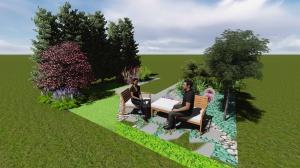Projekt ogrodu - skarpa w Jerzmanowicach