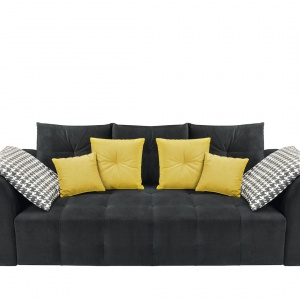 Sofa Royal Black Red White.