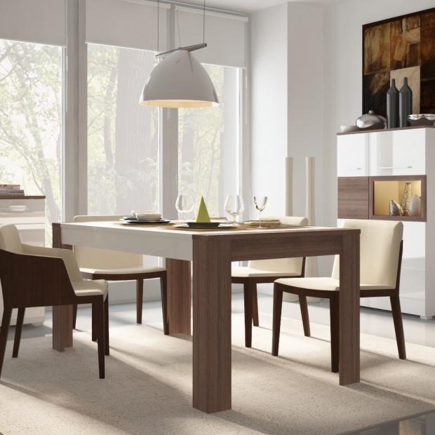 Białe meble do jadalni: zobacz pomysły na dwa budżety