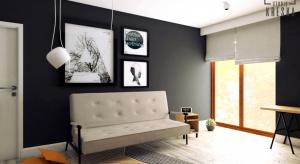 Zobaczcie projekt wnętrza,któryopiera się na kontrastach i odważnych połączeniach czerni, bieli i żółci.