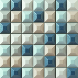 Mozaika ścienna Elementary blue. Fot. Grupa Tubądzin