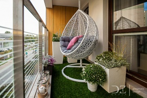 Aranżacja balkonu. / fot. doriz pragmatic design