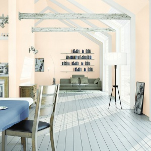 """Surowy skandynawski styl ciągle jest na topie. Na zdjęciu kolor o wdzięcznej nazwie """"biała noc""""."""