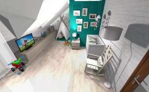 Pomysł na pokój małego chłopca autorstwa DOMdecor Studio Klaudiusz Klepacki.