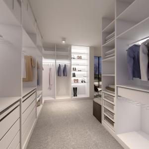 Miejsce do przechowywania zaprojektowano bardzo funkcjonalnie.