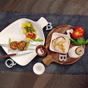 Naczynia z kolekcji BBQ PASSION, dzięki swojemu inteligentnemu designowi sprawią, że sosy i dodatki przez cały czas pozostaną na odpowiednim miejscu. Fot. Villeroy&Boch