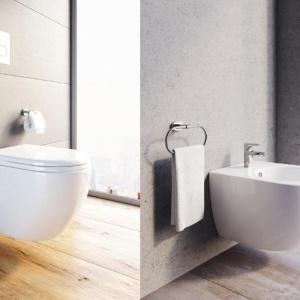 Bidet, miska WC  z serii Uni Chrome R. Fot. Ravak