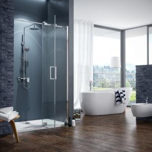Zestaw prysznicowy RAIN ALTAR to nowoczesne rozwiązanie do łazienek; 5-cio funkcyjna delikatna słuchawka i cienka deszczownia górna delikatnie dopełniają gładką baterię. Od 1.099 zł. Fot. Excellent